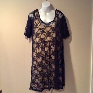 Black lace dress is NWT. Plus Size 2x